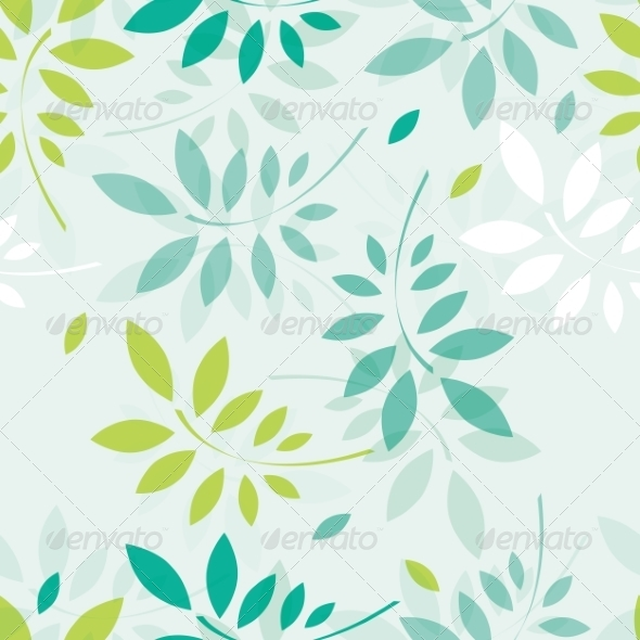 GraphicRiver Spring Background with Branches and Leaves 6991990