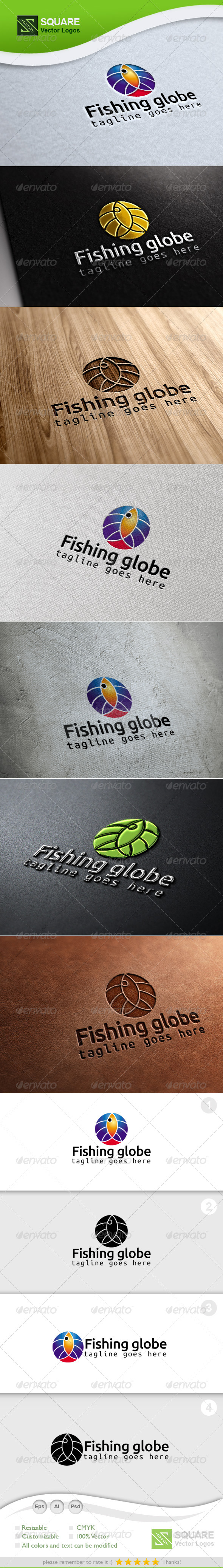 GraphicRiver Fish Globe Vector Logo Template 6992048