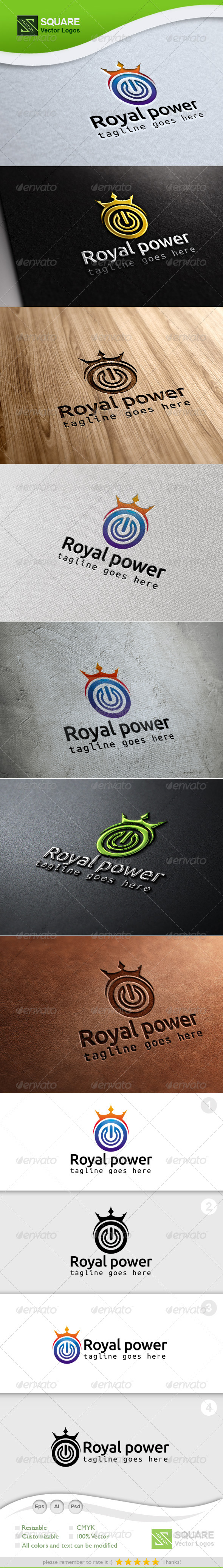 GraphicRiver Crown Power Vector Logo Template 6992087