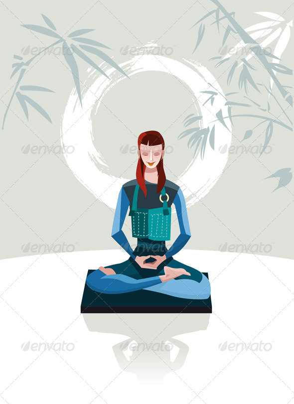 GraphicRiver Woman Meditating 6992197