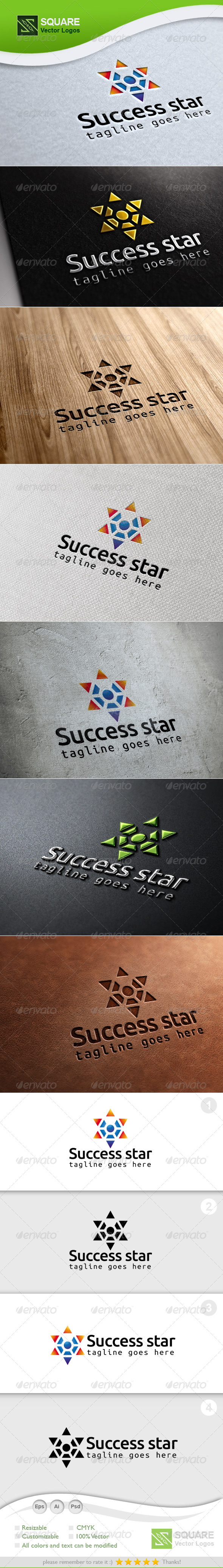Success Star Vector Logo Template