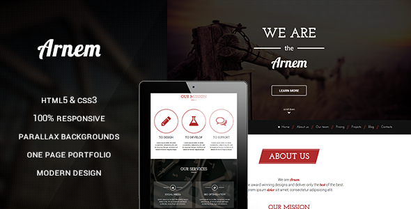 ThemeForest Arnem Creative One Page Parallax Theme 6992794
