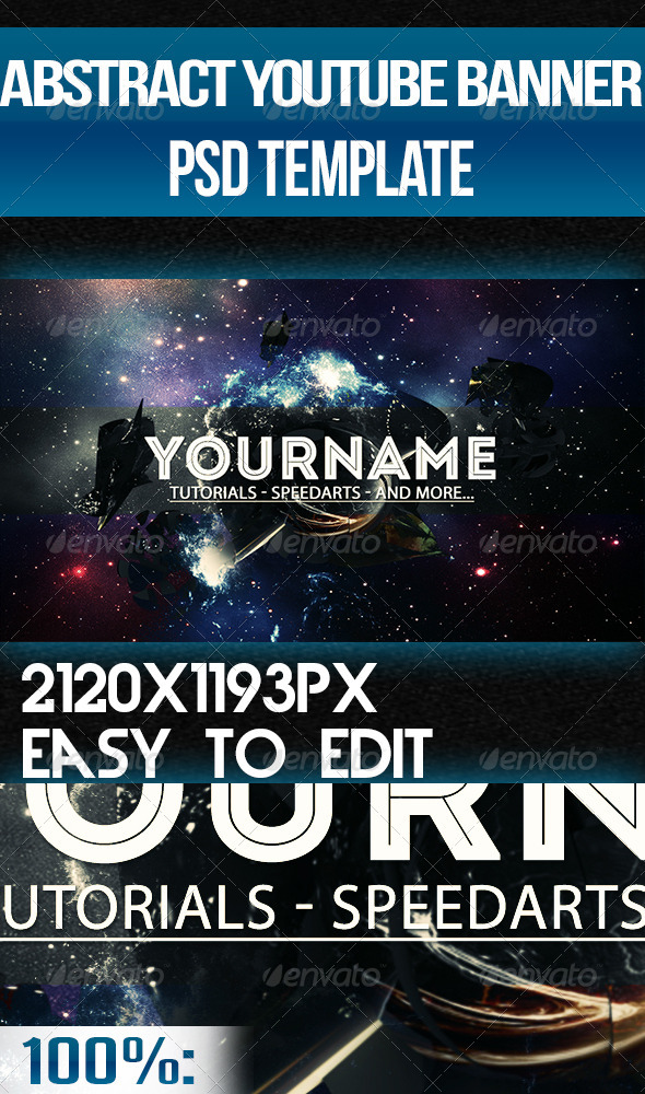 GraphicRiver Nebula YouTube One Channel Design Banner 6993094