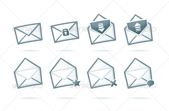 GraphicRiver Envelope Icons 6993303