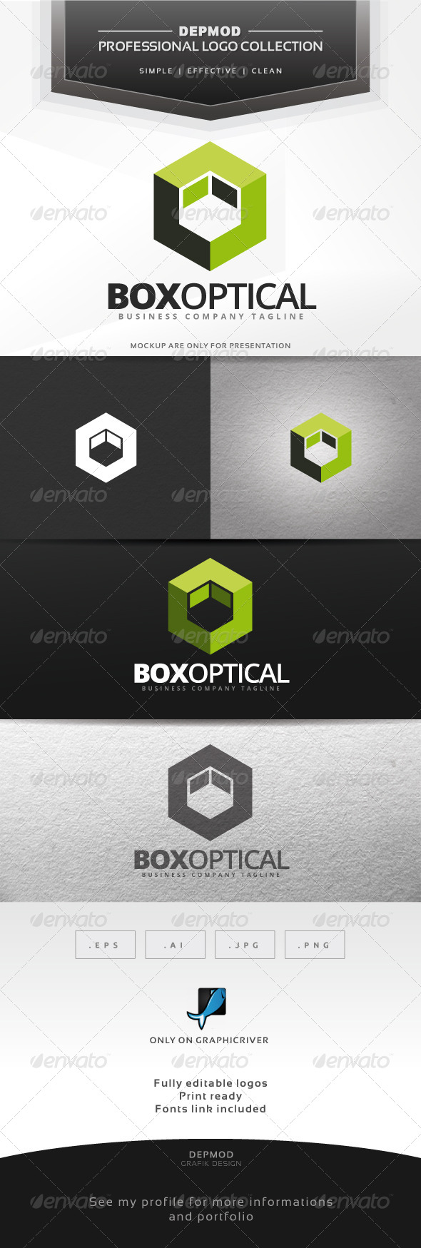 GraphicRiver Box Optical Logo 6981262