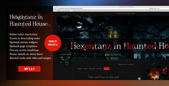 ThemeForest Hexentanz-Horror Halloween Events Theme For WP 6993903