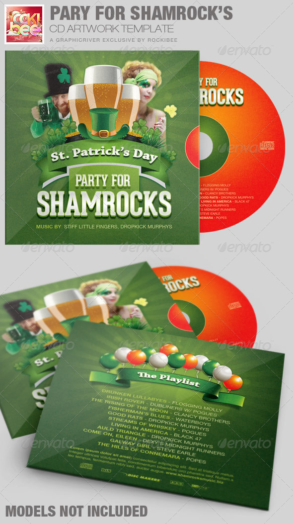 GraphicRiver Party For Shamrocks St.Patrick s CD Artwork 6993931