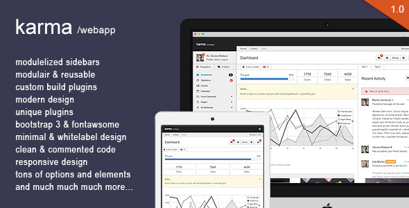 ThemeForest Karma Responsive bootstrapped webapp 6993951
