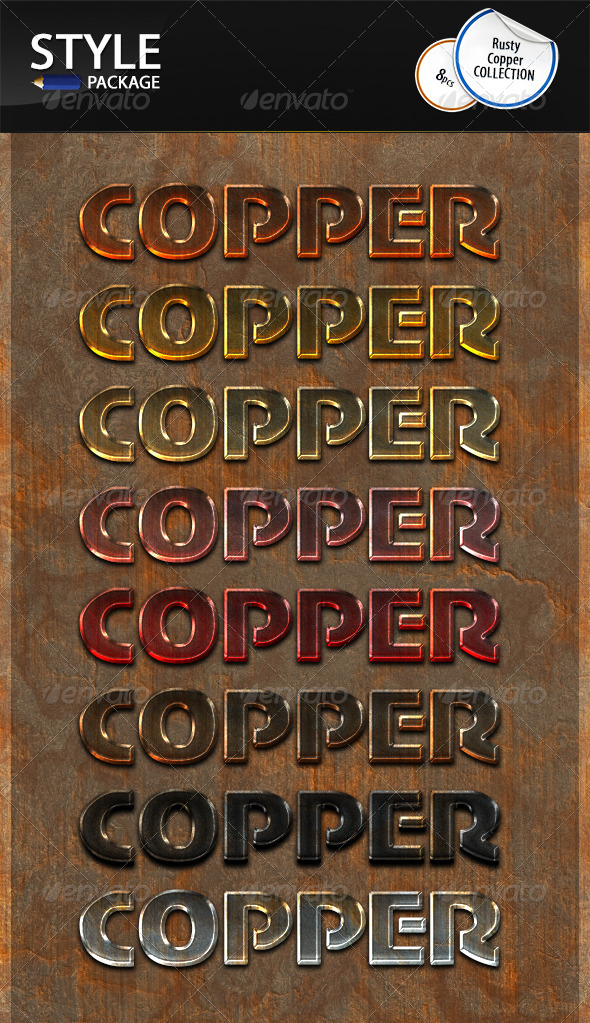 GraphicRiver Rusty Copper Styles 6994204