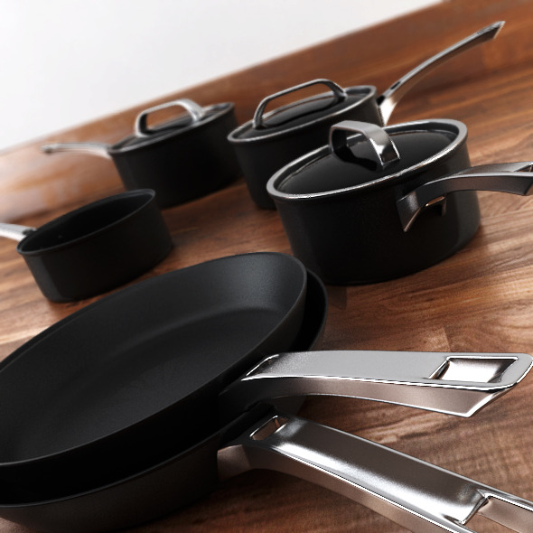 6 piece Pan Set - 3DOcean Item for Sale