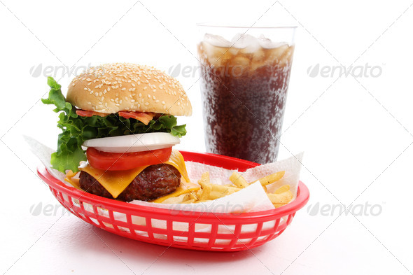 Stock Photo - PhotoDune Cheeseburger and Fries 732574