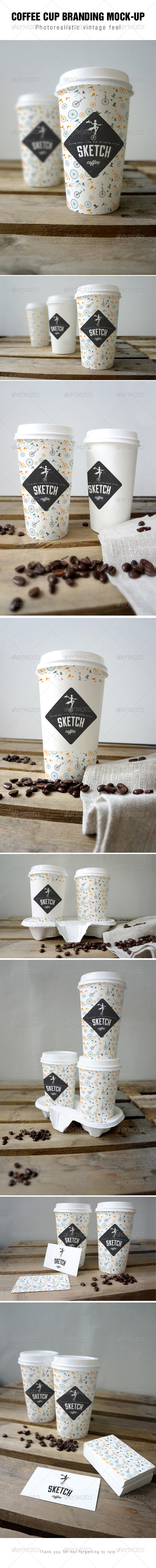 GraphicRiver Coffee cup branding Mock-up 6994678