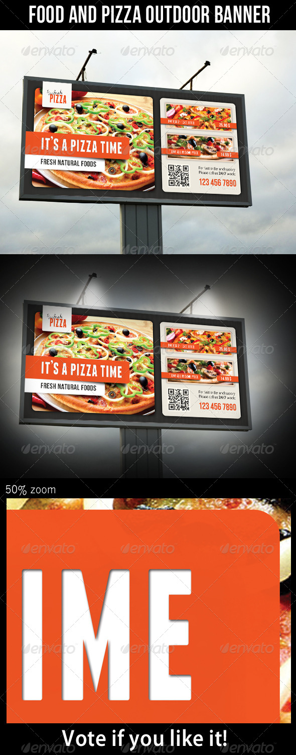 GraphicRiver Food And Pizza Outdoor Banner 04 6994907