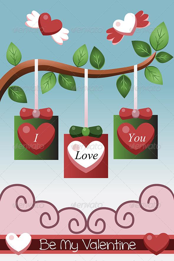 GraphicRiver Valentine Card Design 6995481