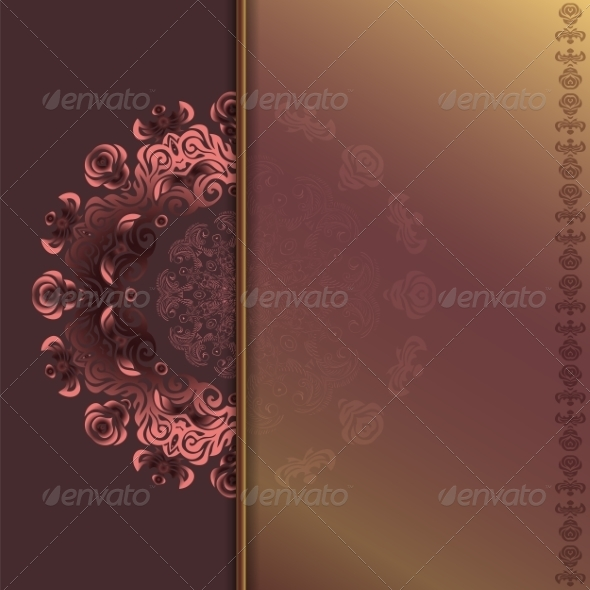 GraphicRiver Card with Abstract Roses Pattern 6995769