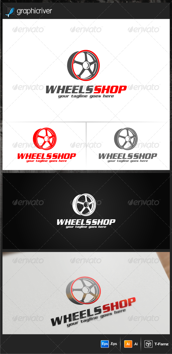 GraphicRiver Wheels Shop Logo Templates 6995941