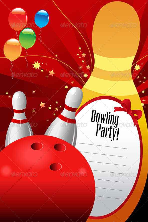 GraphicRiver Bowling Party Invitation Template 6996012