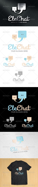 GraphicRiver EleChat Logo 6996328