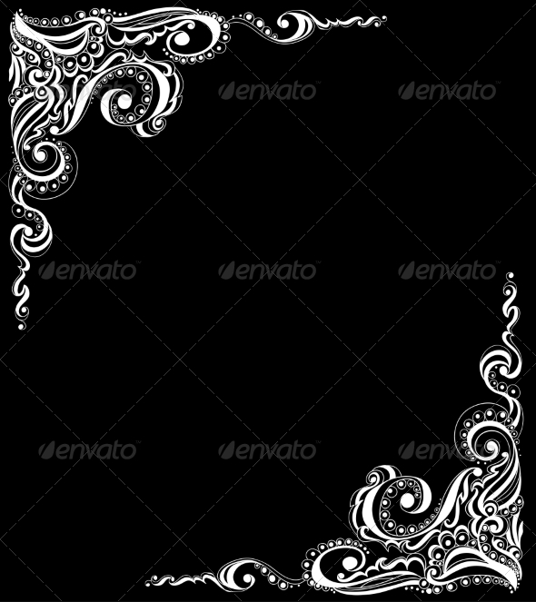 GraphicRiver Abstract Floral Tattoo Pattern 6996625