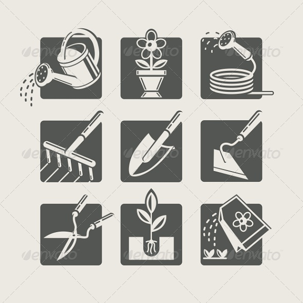 GraphicRiver Garden Tools Icons Set 6997238