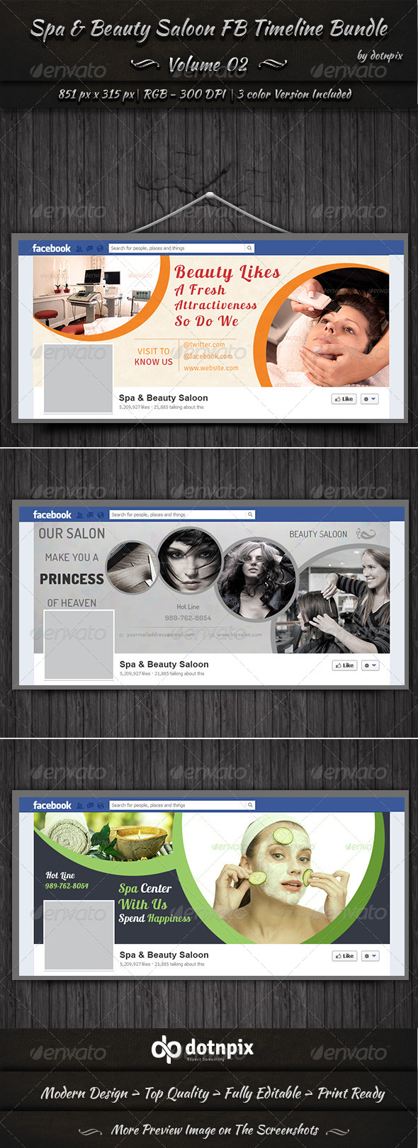 GraphicRiver Spa & Beauty Saloon FB Timeline Bundle Volume 2 6997399