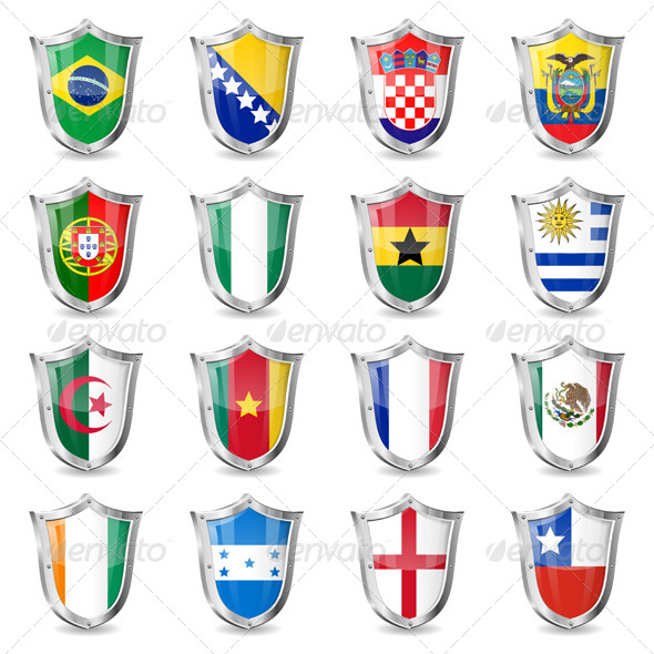 GraphicRiver Soccer Flags on Shields 6997499