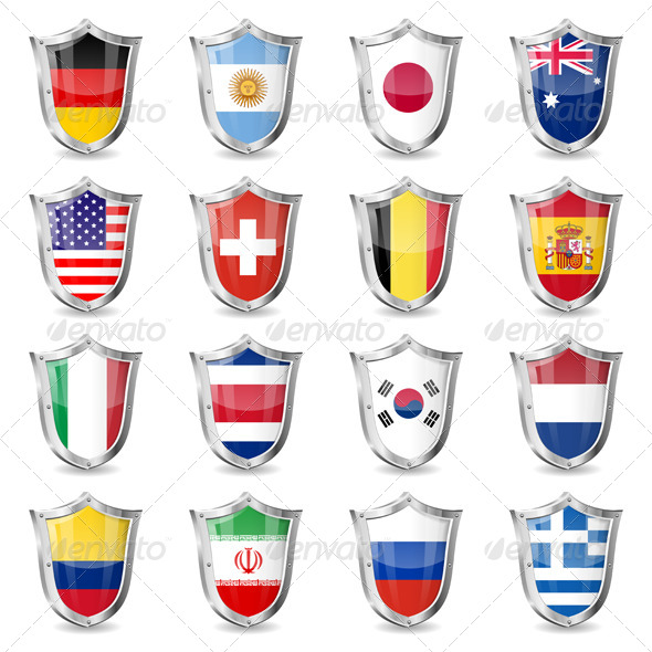 GraphicRiver Soccer Flags on Shields 6997501