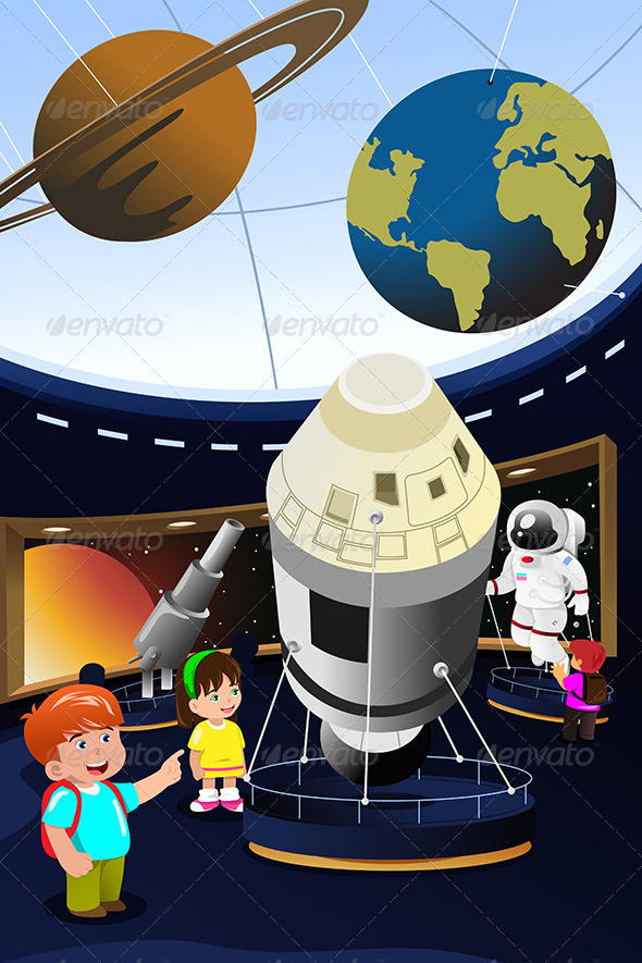 GraphicRiver Kids on a Field Trip to a Planetarium 6997532