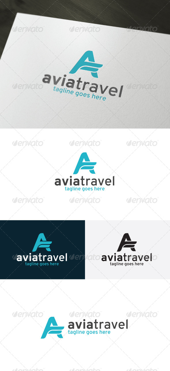 GraphicRiver Avia Travel Logo Letter A 6987847