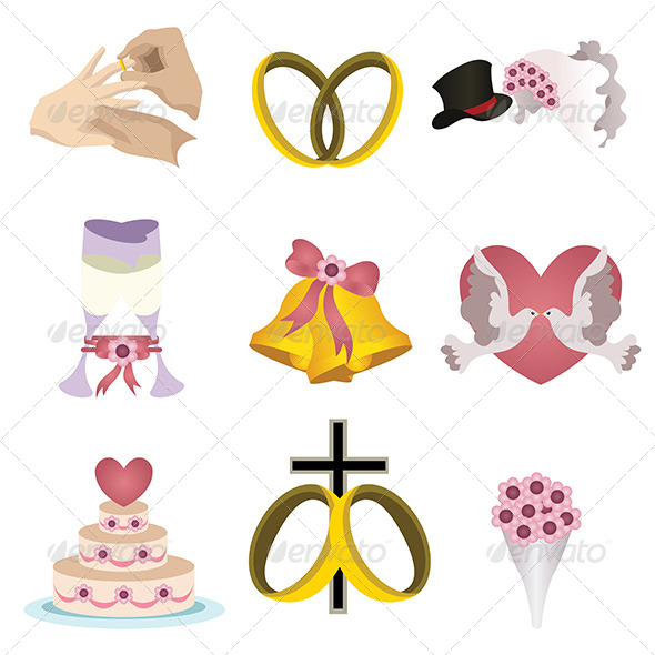 GraphicRiver Wedding Icons 6997913