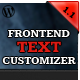 Frontend Text Customizer - WordPress Visual Editor - CodeCanyon Item for Sale