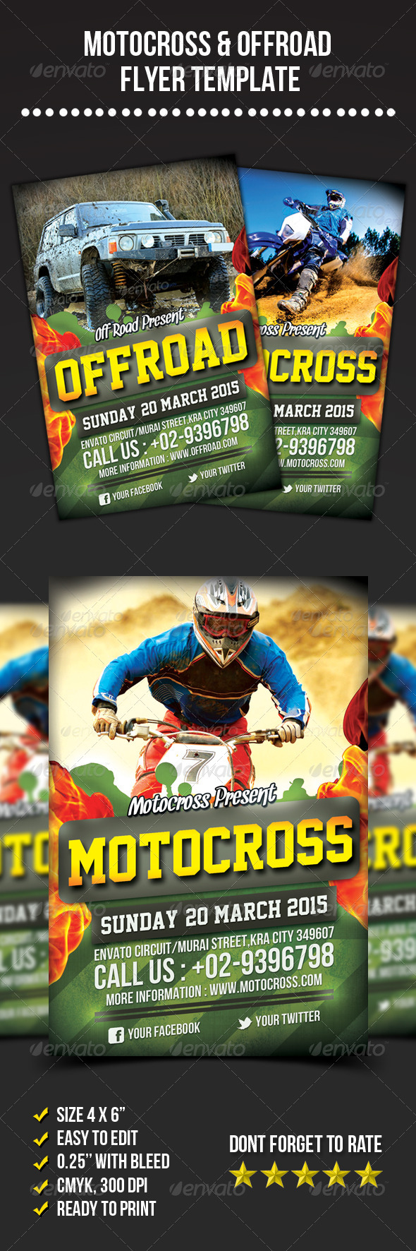 GraphicRiver Motocross & Offroad Flyer 6998473