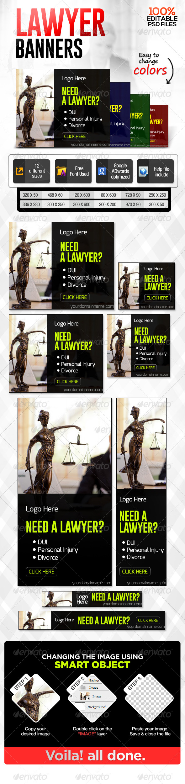 GraphicRiver Lawyer Banners 6985919