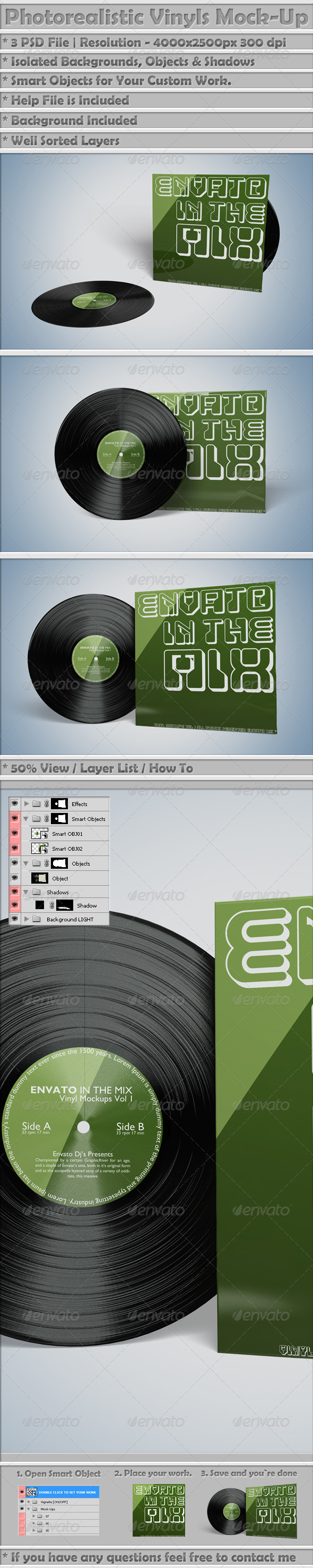 Vinyl Mockups Vol 1 - Miscellaneous Print