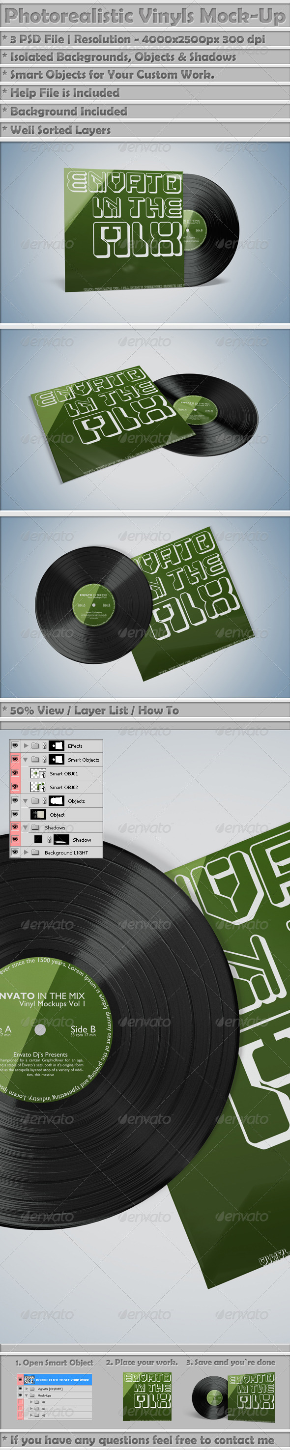 GraphicRiver Vinyl Mockups Vol 2 6998897