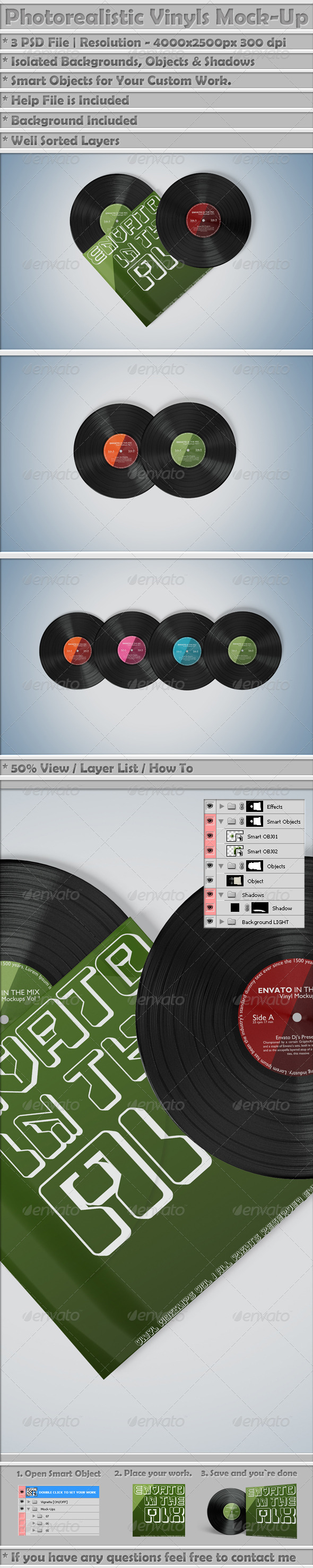Vinyl Mockups Vol 3 - Miscellaneous Print