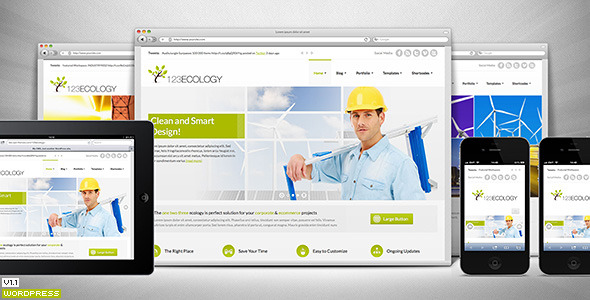 123Ecology Corporate & eCommerce Wordpress Theme - Preview image