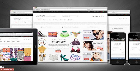 456Shop eCommerce Wordpress Theme - Preview image