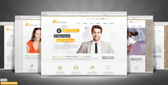 123Theme Business & eCommerce Wordpress Theme - Preview image