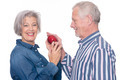 Senior couple with apple - PhotoDune Item for Sale