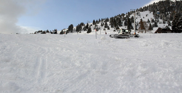 Ski Resort and Snowcat