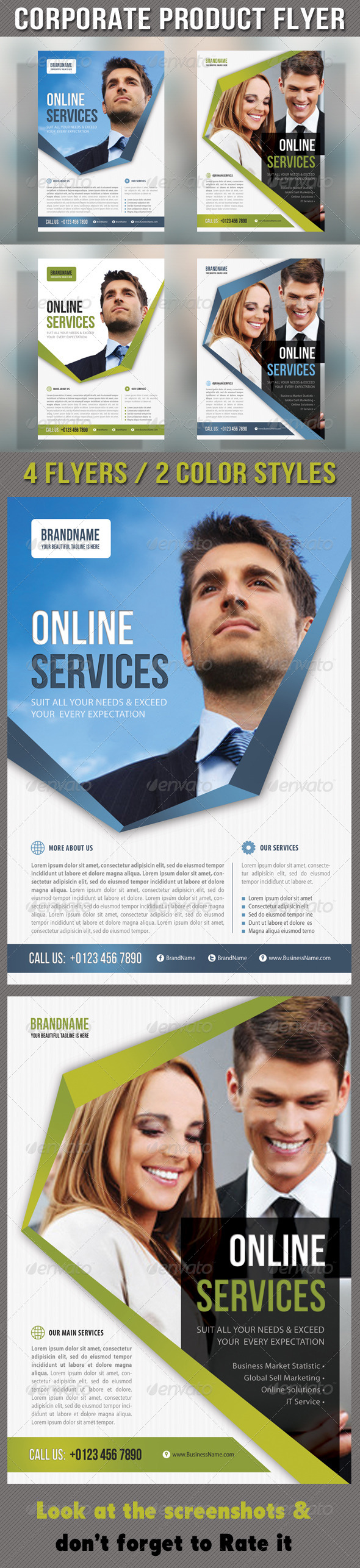 GraphicRiver Corporate Product Flyer 60 6999825
