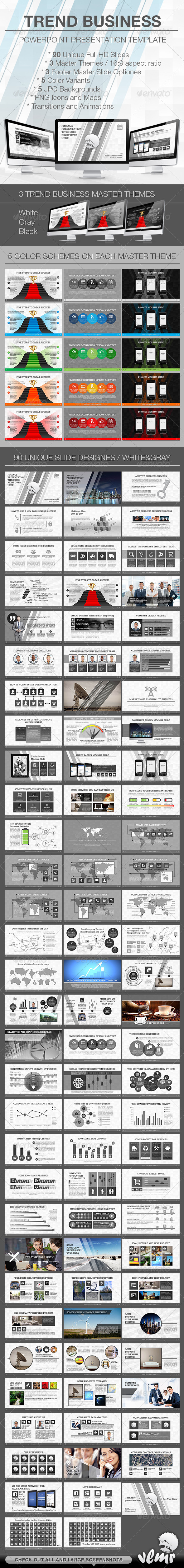 GraphicRiver Trend Business PowerPoint Presentation Template 6993506