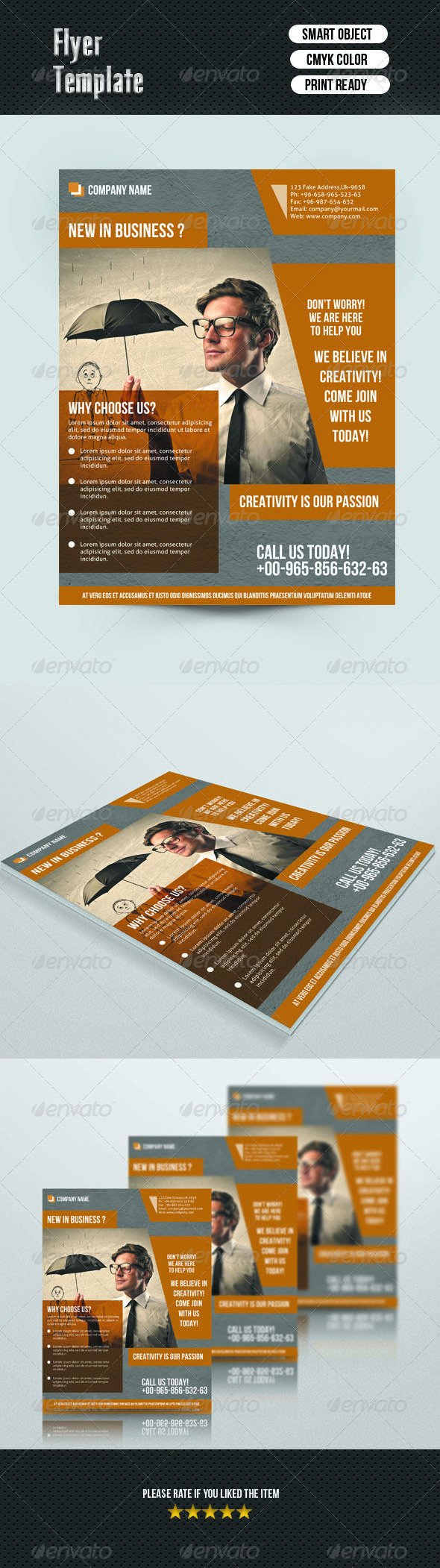 GraphicRiver Business Flyer Template 7000571