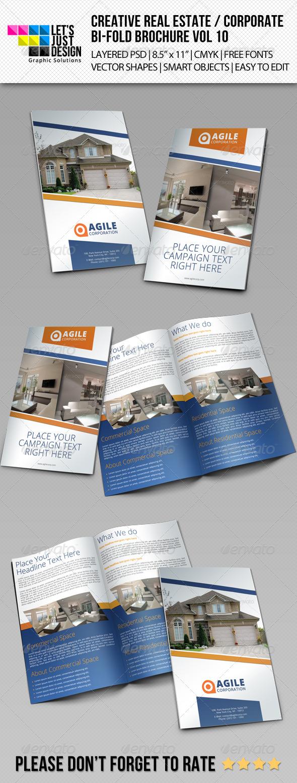 Creative Corporate Bi-Fold Brochure Vol 10