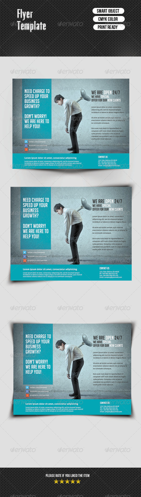 GraphicRiver Business Flyer Template 7000591