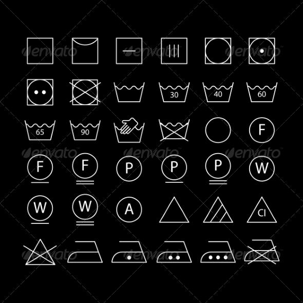 GraphicRiver White Washing Symbols 7000881