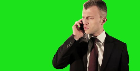 Angry Businessman Phone Call