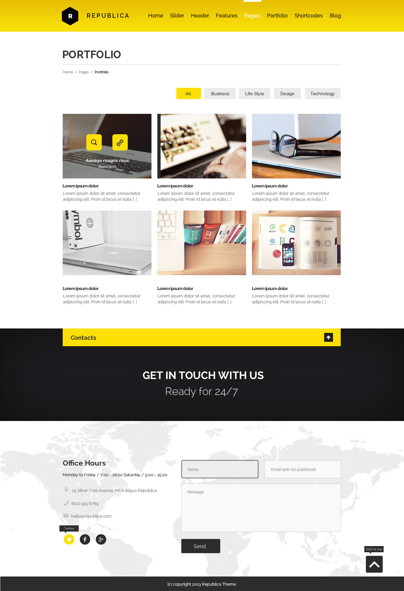 Republica PSD Template