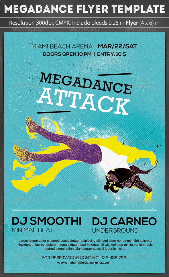 Megadance Flyer Template
